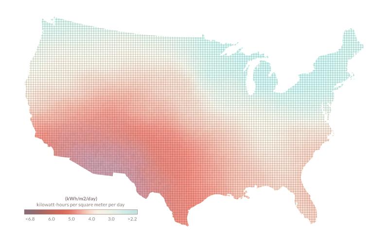 How Does Solar Energy Work Solar Power Authority - Solar calculator map