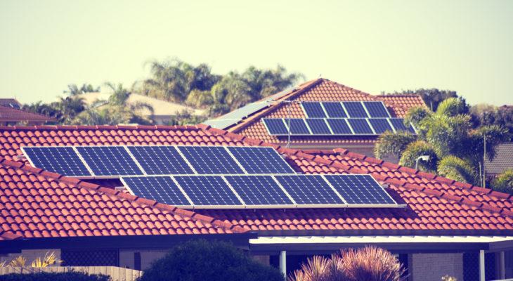 Rooftop solar panels