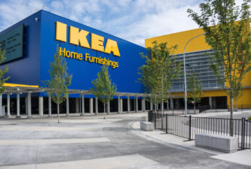 RICHMOND, BC, CANADA - MAY 30, 2013: IKEA Richmond store on May 30, 2013. Founded in Sweden in 1943, Ikea is the world's largest furniture retailer.