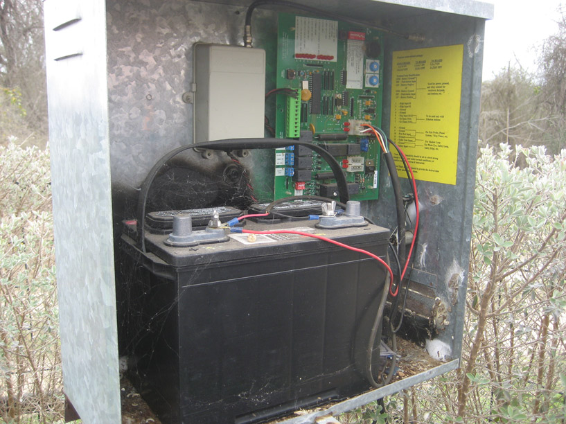 Solar powered driveway gates power authority
